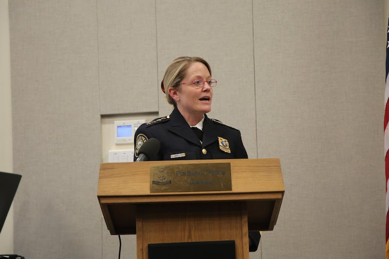 On Dec. 31, almost 21 years after the start of her career, Portland Mayor Ted Wheeler appointed UP alum Jami Resch as the 49th Portland police chief. Photo courtesy of Portland Police.