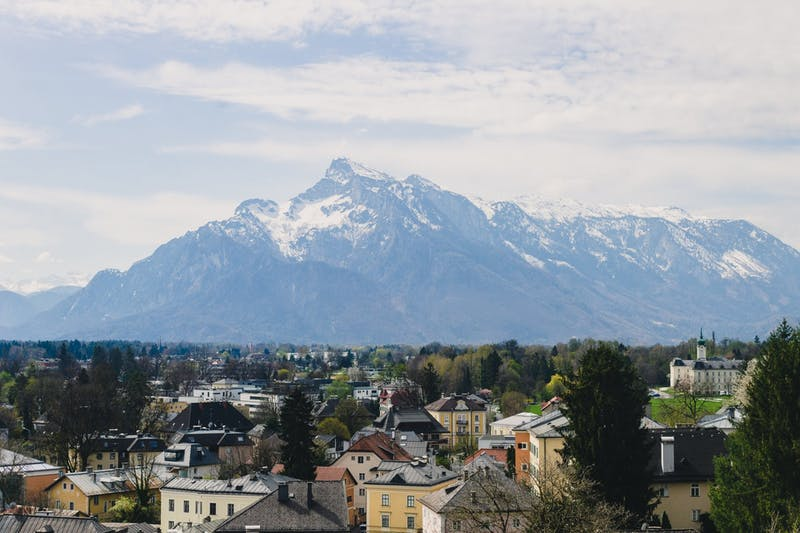 The view from the Hohensalzburg Fortress in Salzburg, Austria, a popular destination for students going abroad in the past.