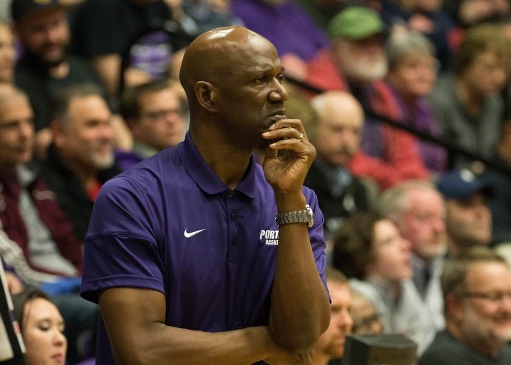 Head Coach of the men's basketball team, Terry Porter.