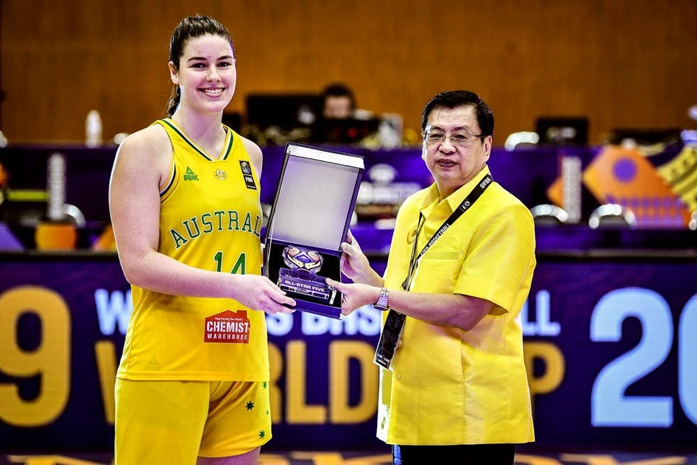Freshman forward Alex Fowler from Townsville, Australia, played for the Australian National U-19 women's basketball team over the summer. Photo courtesy of University of Portland Athletics.