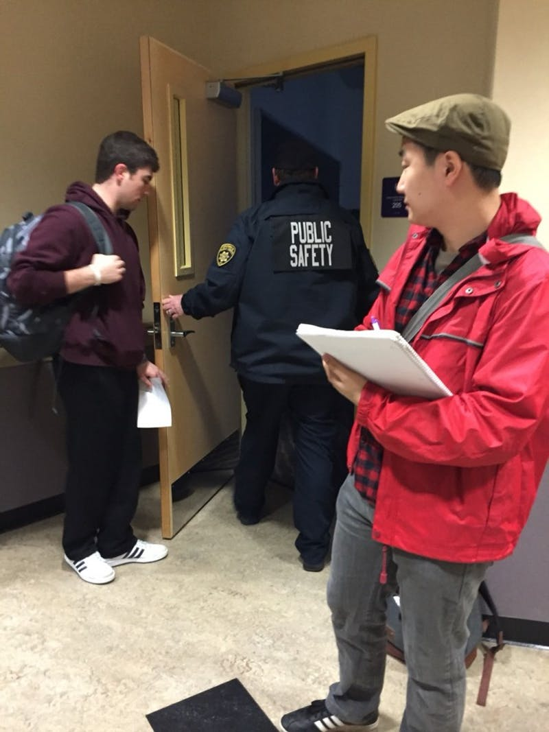 Some professors and students have encountered challenges with being locked out of classrooms since the start of the semester. Gerald Gregg advises students or professors to call Public Safety should this occur. Photo by Jacob Fuhrer.