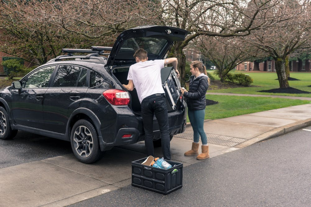 Students pack their belongings and their aspirations as they leave spring semester behind.