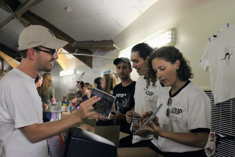 At last year's Student Activities Fair, members of KDUP, University of Portland's radio station, passed out free CDs to students who signed up.