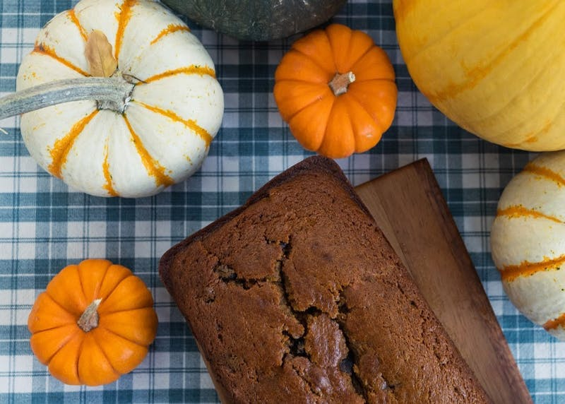 Pumpkin bread is a classic crowd pleaser. Add fun mix ins like chocolate chips or nuts to spice things up!Photo Illustration by Molly Lowney