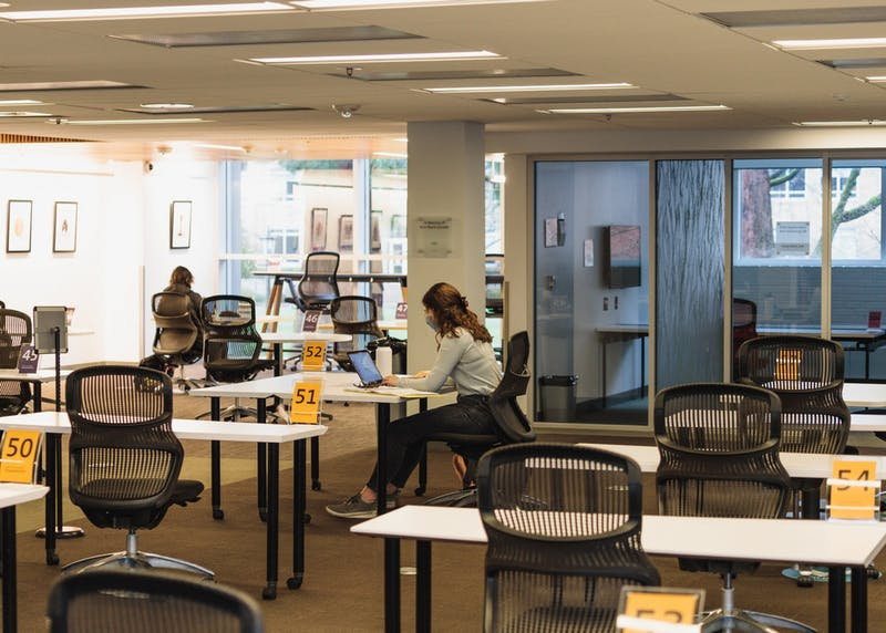 Monday Feb. 1 marked the return of in person classes to The Bluff. The Clark Library also reopened, offering 100 socially distanced seats to on and off campus students.