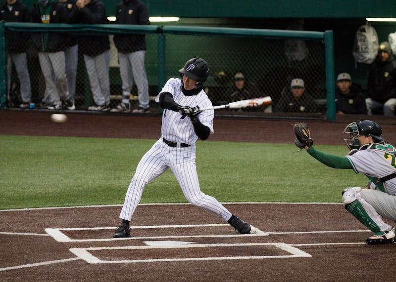 Sophomore Beau Brundage prepares to swing against San Francisco's talented pitcher, Thomas Ponticelli. The Dons remain undefeated in the WCC after winning the first game in their series against the Portland Pilots.