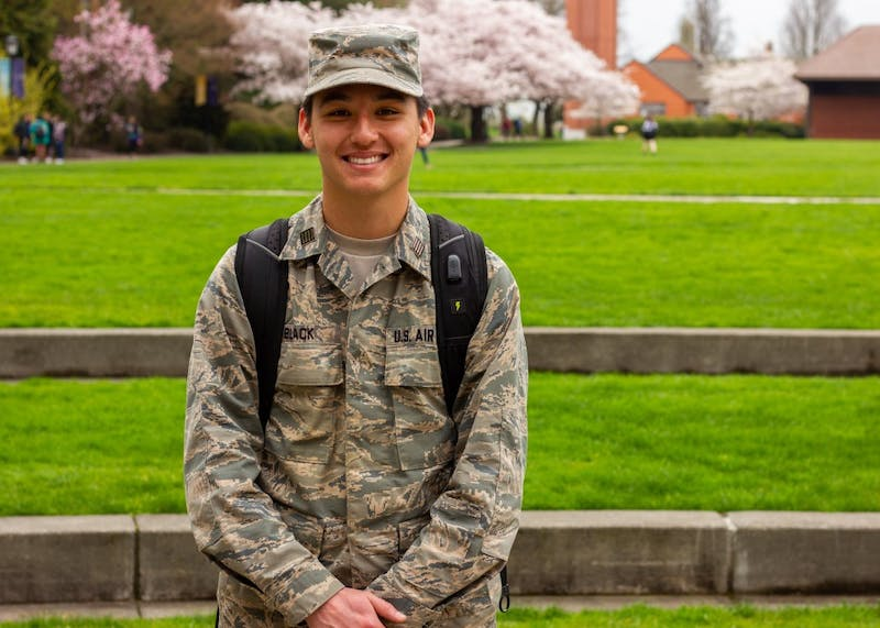 Senior John Black has been stationed at the Yokota Air Base in Japan as a second lieutenant.