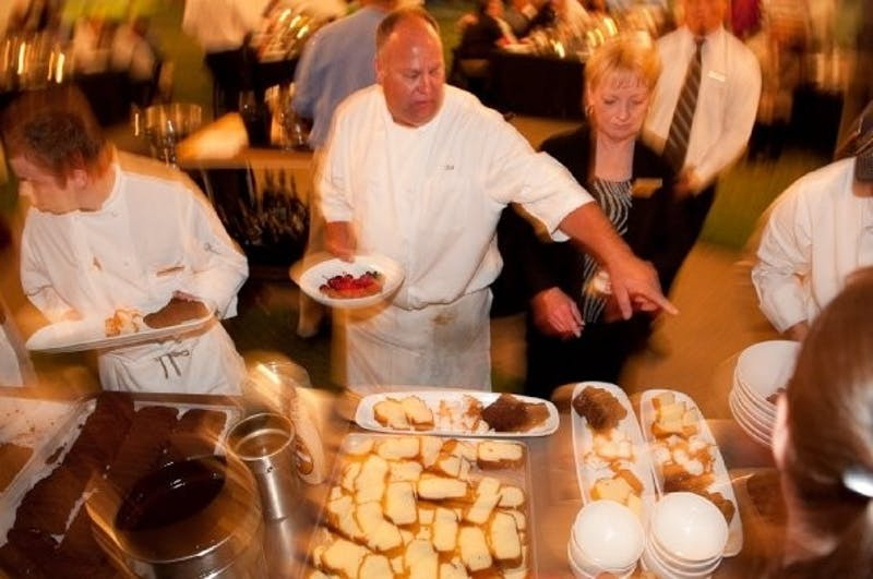 Kirk Mustain at the Farm to Fork Dinner on the quad in 2009.Photo Courtesy of Kirk Mustain