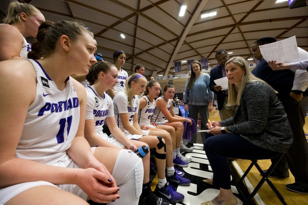 The women's basketball team finished 13-17 and 5-13 in conference play for eighth in the conference.