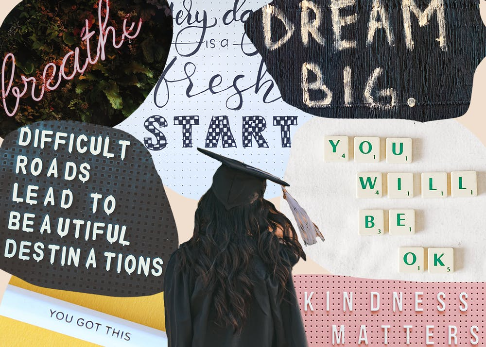 UP's class of 2021 graduates in less than two weeks. To honor their contributions to the community and prepare them for the road ahead, The Beacon asked six professors to give their best advice to the soon to be graduates. Collage by Molly Lowney. Images courtesy of Unsplash and Pexels.