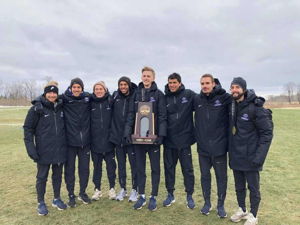 The men's team reached the podium for the second straight year, getting third place at the NCAA Cross Country Championships.