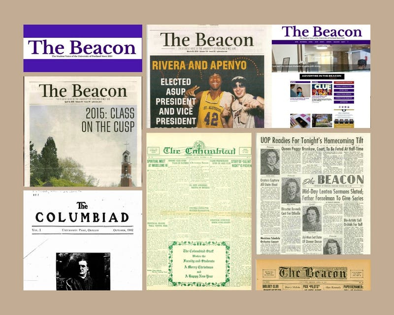 UP's Clark library has now added past editions of The Beacon to its online archives. These Beacon editions can be found on Clark Library's digital collection site.Graphic by Emma Sells