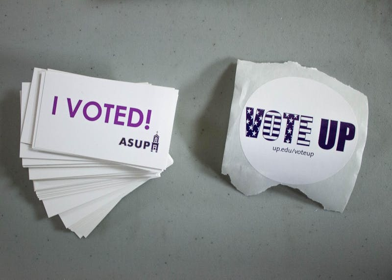 ASUP has stickers for those who have voted in the midterm elections.