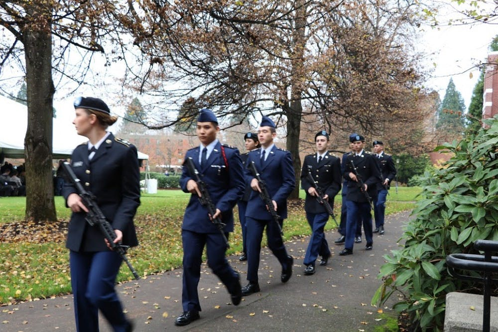 ROTC students who receive a scholarship or enter the ROTC Advanced Coursemake a commitment to a period of service with the Army or Airforce.