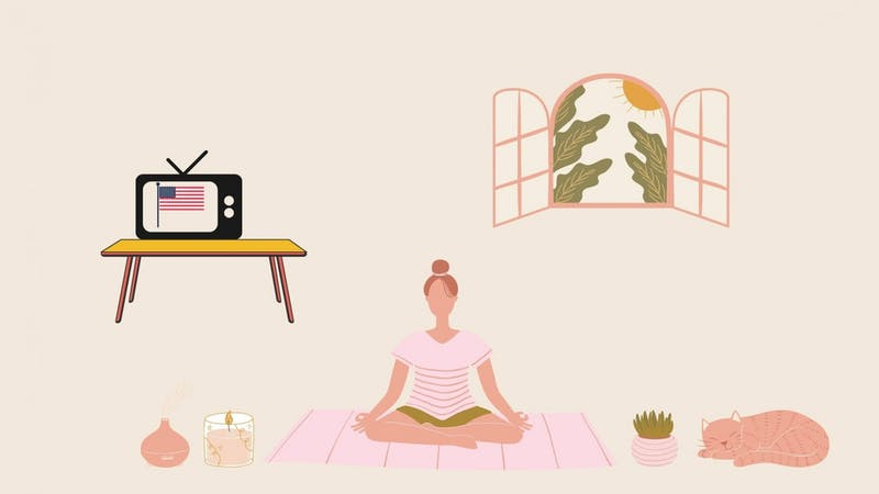After a very stressful election week, it is important to relax and reprioritize. Here are tips on exactly how to adjust after this year's election. Canva by Marek Corsello.