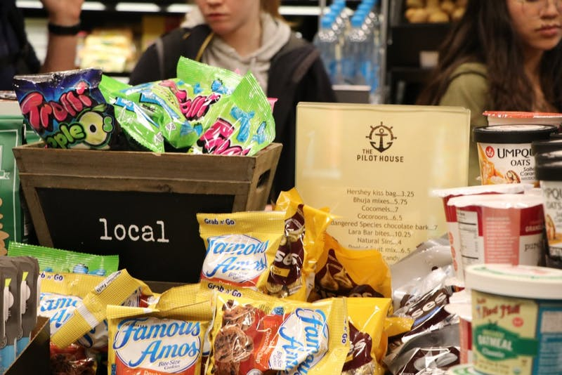 Students will not be able to transfer extra points to gift cards but can spend them on a variety of items at Mack's Market .