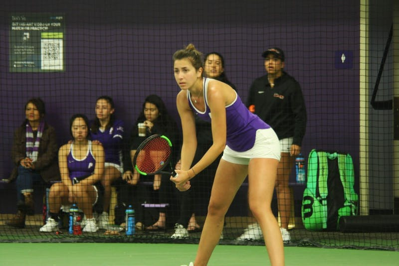 Senior Jelena Lukic (pictured above) and freshman Neli Sunjic won WCC Doubles Team of the Week on Feb. 18.
