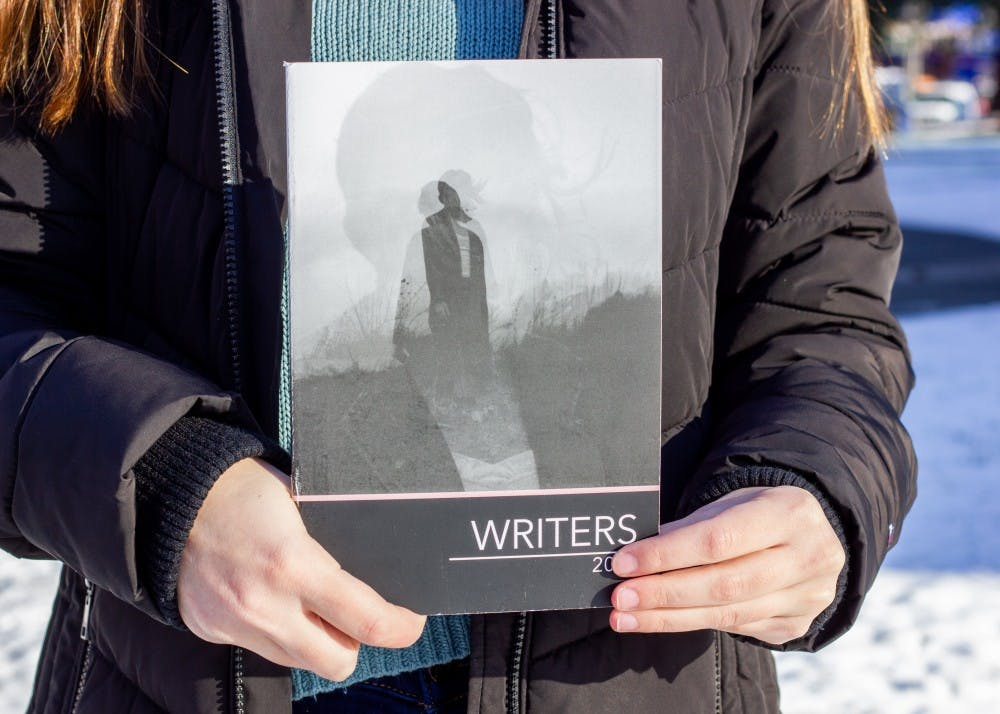 The cover of last year's Writers Magazine featured photography by Sabrina Bernaldo-Olmedo, Class of 2018. The submission deadline for this year's edition is February 8.