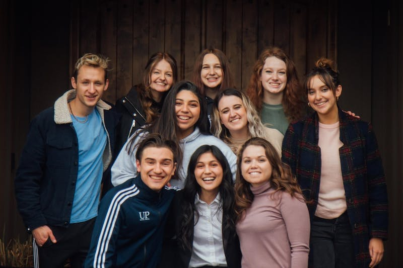 The UP Mock Trial Team who will be competing in nationals. Team members (from top left to bottom right) Ryan Thoms, Amelia Christensen, Maeve Mahoney, Kira Vollans, Hazel Stange, Katherine Rojas, Madison Johnson, Mario Sarich, Megan Musquiz, and Morgen Dempsey.Photo courtesy Megan Musquiz.