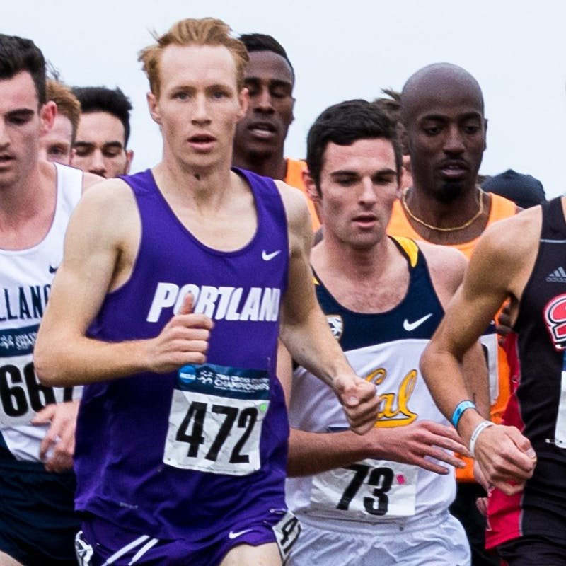 Former University of Portland cross country and track star Scott Fauble finished seventh overall and tops among Americans in the Boston Marathon on Monday.