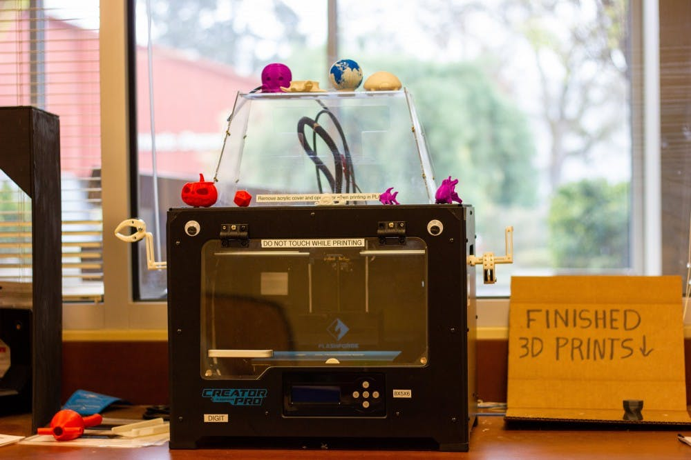 From a fish to a Jack-o'-lanter the 3D printers in the Pilot Space allow students to print a variety of things.