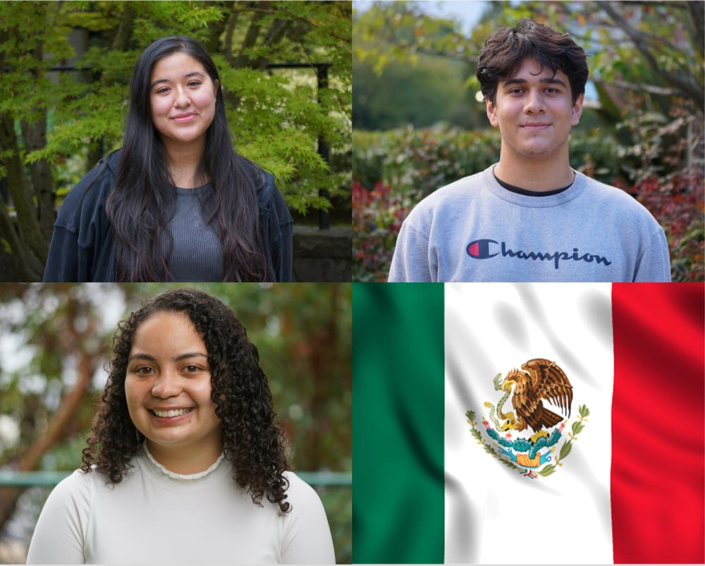 Latinx Students (from top left to bottom right): Danile Perez Vargas, Diego Madrigal, and Jahayra Garcia-Sandoval. Photos by Marek CorselloImage courtesy of UnSplashCanva by Haviland Stewart