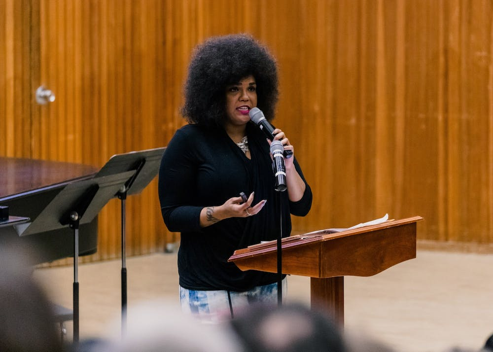 Walidah Imarisha was the keynote speaker for UP's first ever MLK Day On. In her address she went through a timeline of racism in Portland and Oregon as a whole.