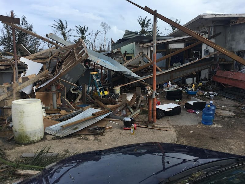 John Costales' home in Saipan after the storm. Costales is a freshman engineering major at UP. Photo courtesy of Costales.