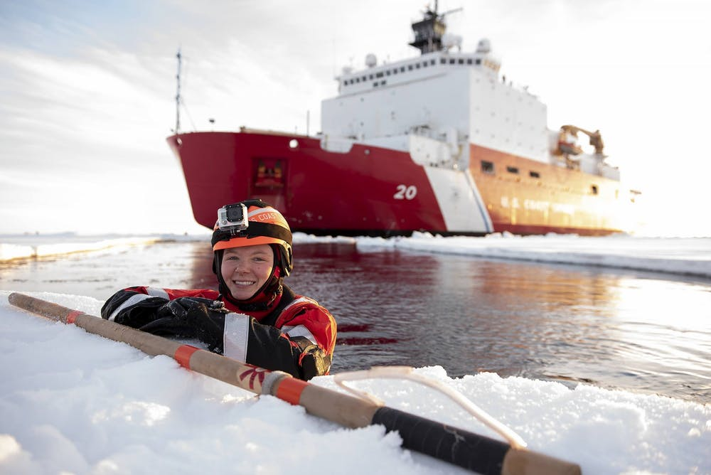 Sophomore Shannon Eubanks came to University of Portland after completing a tour of duty with the United States Coast Guard. Photo courtesy of NyxoLono Cangemi.
