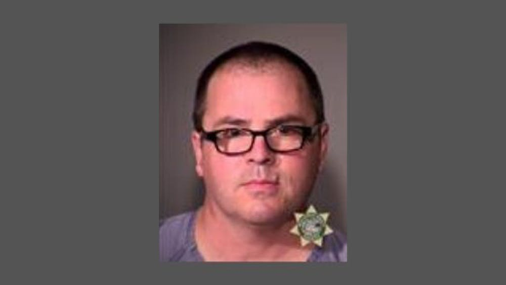 Former University of Portland employee Patrick Ell is accused of assaulting Associate Vice President for Student Development Matthew Rygg. Ell will be arraigned this afternoon. Photo courtesy of Multnomah County Sheriff's Office.