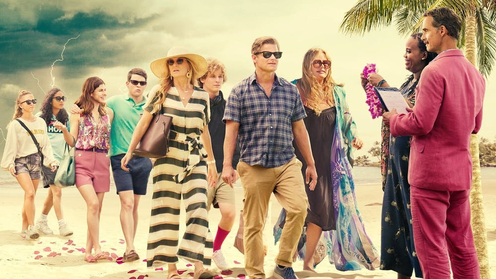 The White Lotus, premiered on HBO Max on July 11. Featuring Connie Britton, Jennifer Coolidge and Sydney Sweeney. The show follows the lives of three groups of wealthy, white vacationers as they interact with the partially-Native-Hawaiian staff at the White Lotus resort in Hawaii. Image courtesy of HBO Max