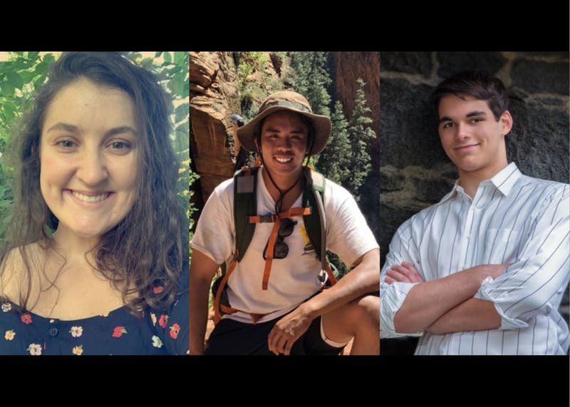 Elizabeth Diaz-Gunning, Justin Manahan and Riley Dehmer are students in the Innovation minor program. Photos courtesy of Elizabeth Diaz-Gunning, Justin Manahan and Riley Dehmer.