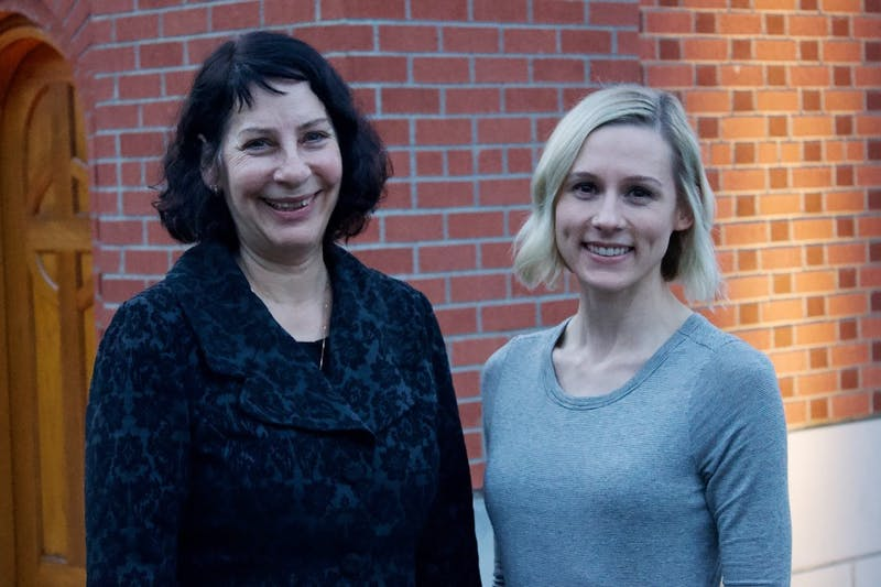 Health and Counseling Center Director Carol Dell'Oliver introduces new family nurse practitioner Courtney Rau at an ASUP meeting in January.