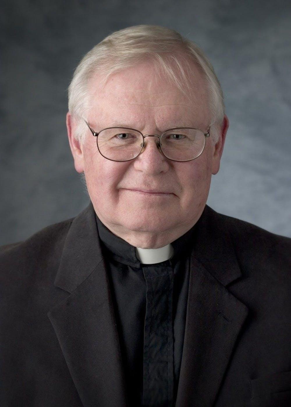 Fr. David Sherrer in 2005. Photo via the University Archives.