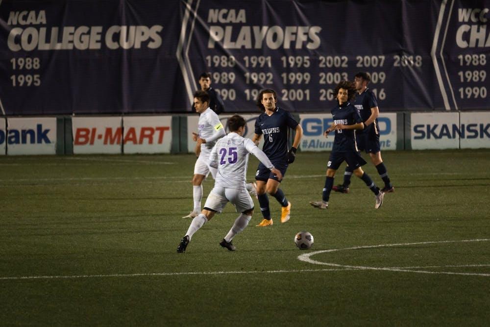 The men's soccer team tied San Diego this week 1-1.