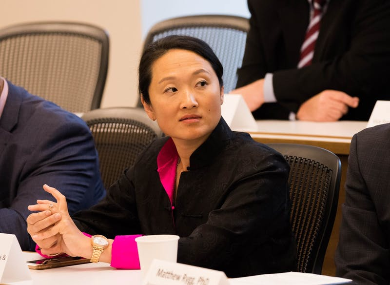Sandy Chung at the President's Cabinet in fall 2019.