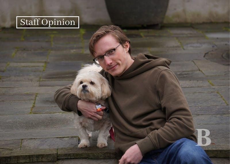 Beacon photographer Marek Corsello with his dog Stan. Photo courtesy of Marek Corsello.
