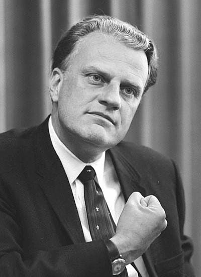 photo of Billy Graham from Wikimedia commons.