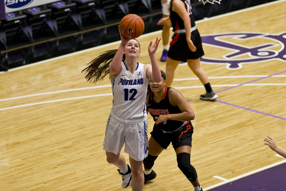 Freshman forward Alex Fowler has twice won West Coast Conference Player of the Week so far this season. Photo courtesy of University of Portland Athletics.