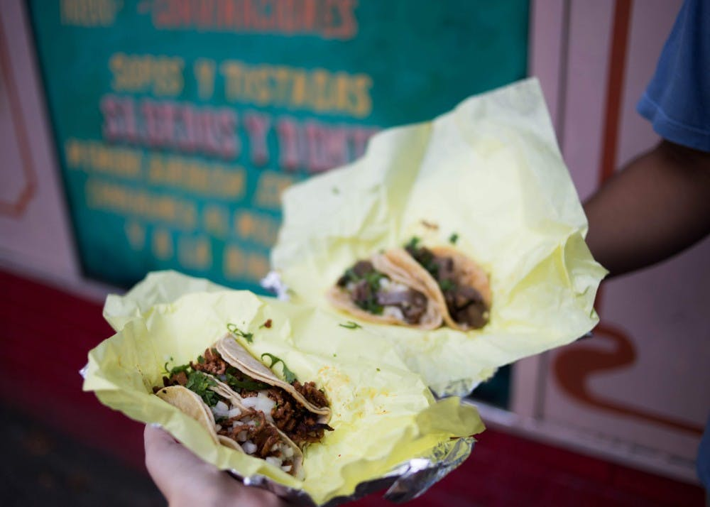 Tacos at Tienda Santa Cruz are affordable, filling, and close to campus.