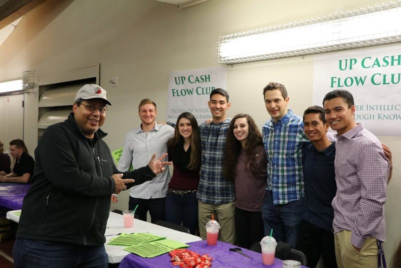 """Members of UP's Cash Flow Club aim to start a """"movement"""" on campus of students invested inlearning about personal finance."""