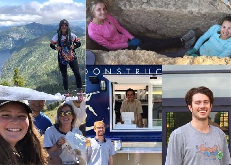 The Beacon spoke to seven students about their summers. Photos courtesy of Katie Norris, Luke Cleve, Lauren Tate, and Madison Thibado. Collage created by Gabi DiPaulo.
