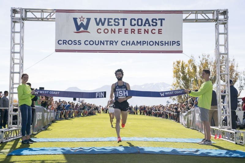 Portland Pilots runner Nick Hauger won the individual title at the WCC Championship this past Saturday.