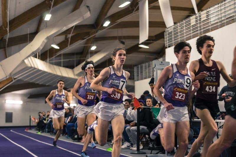 The men's team excelled in the distance races.