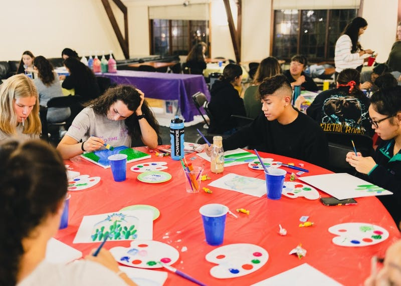 "Diversity and Inclusion put on Pilots Paint Night on Tuesday, Sept. 24. The theme was LatinX Heritage month, and the inspiration painting was ""Manacá"" by Tarsila do Amaral, a Brazilian female artist."