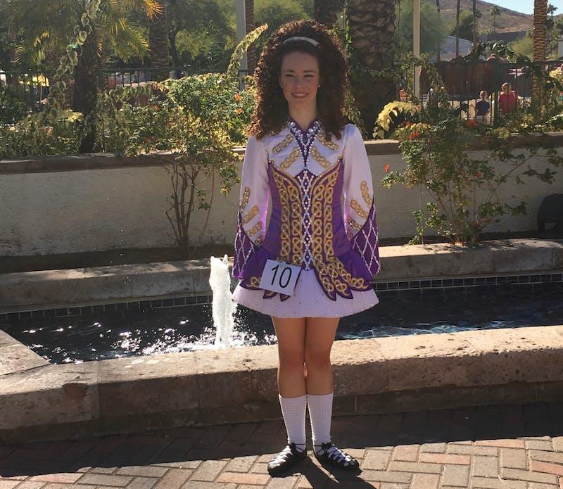 Junior Emily Rose Krajewski performed at the Western Regional Oireachtas in 2017. Photo submitted by Krajewski.