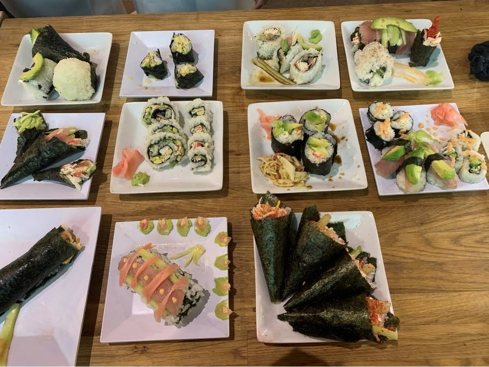 The IEW sushi workshop last year. Photo courtesy of the International Club.