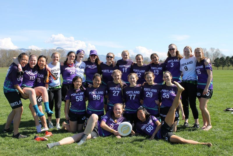 The women's ultimate frisbee team.