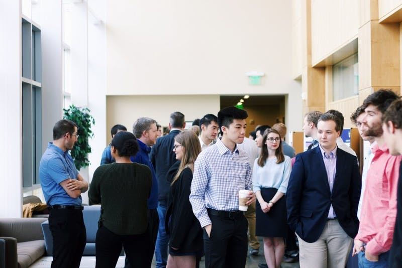 Shiley Hall was packed with well dressed students presenting their research for Founder's Day.