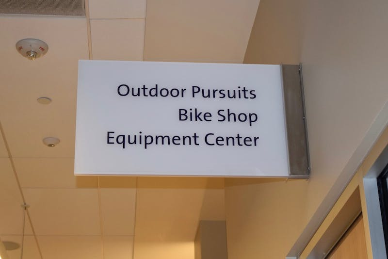 The Outdoor Pursuits office is located in the Beauchamp Recreational Center.